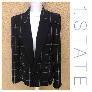 [1. State] Windowpane Black Blazer